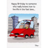 Oatmeal Studios Live in the Fast Lane Funny Birthday Card for Him
