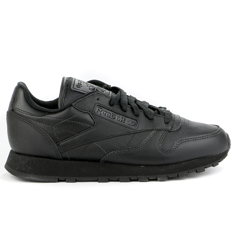 Reebok Classic Leather Casual Sneaker Shoe Black Womens by Reebok