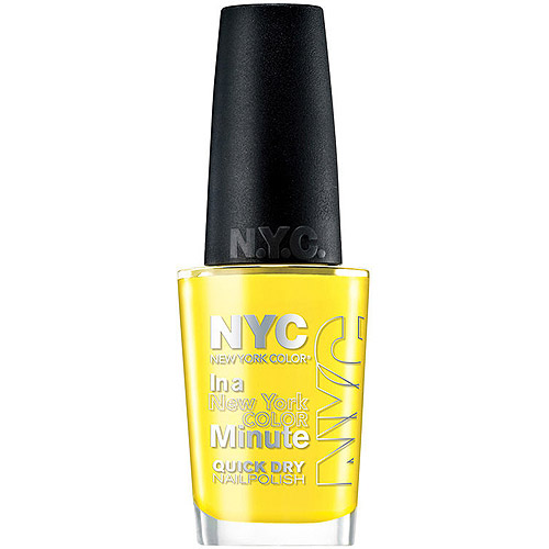 New York Color in a New York Color Minute Quick Dry Nail Polish, Lexington Yellow