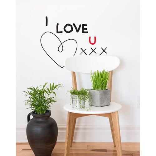ADZif Mia & Co I Love U Xxx Wall Decal