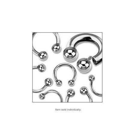Circular barbell Body Jewelry Horseshoe Ring Surgical Steel Internally (Circular Horseshoe Rings)