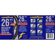 """Goodyear 26"""" x 1 3/8 Heavy Duty Bike Tube, Black"""