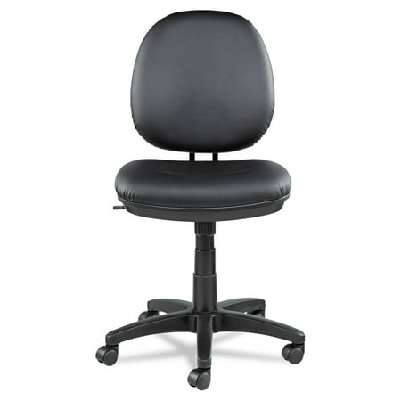 Sharp Series Leather - Alera Interval Series Swivel/Tilt Task Chair, Leather, Black