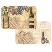 4 Vineyards Reversible Washable Plastic Placemats
