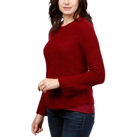 Lucky Brand Womens Nico Cashmere Blend Crewneck Pullover Sweater