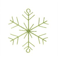 "5"" Bright Lime Green Glittered Christmas Build-a-Garland Snowflake"