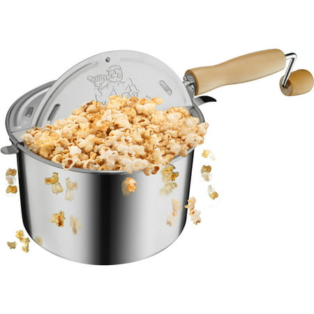 Great Northern Popcorn Original Stainless Stovetop 6-1/2 Quart Popcorn Popper