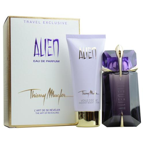 alien set eau de parfum spray 2 oz radiant body lotion 3. Black Bedroom Furniture Sets. Home Design Ideas