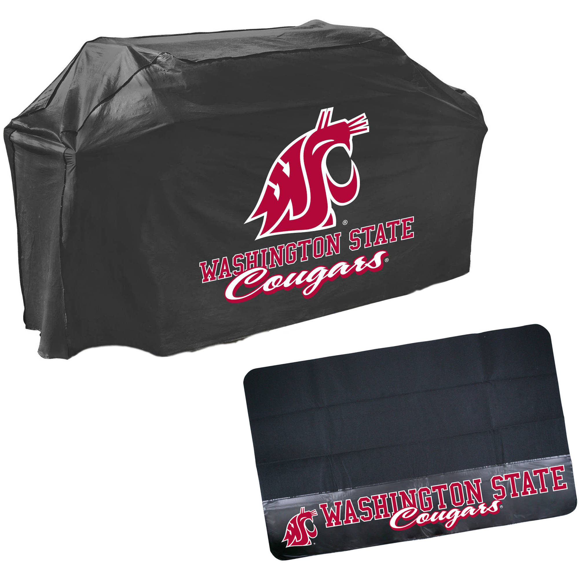 Mr. Bar-B-Q NCAA Grill Cover and Grill Mat Set, Washington State Cougars