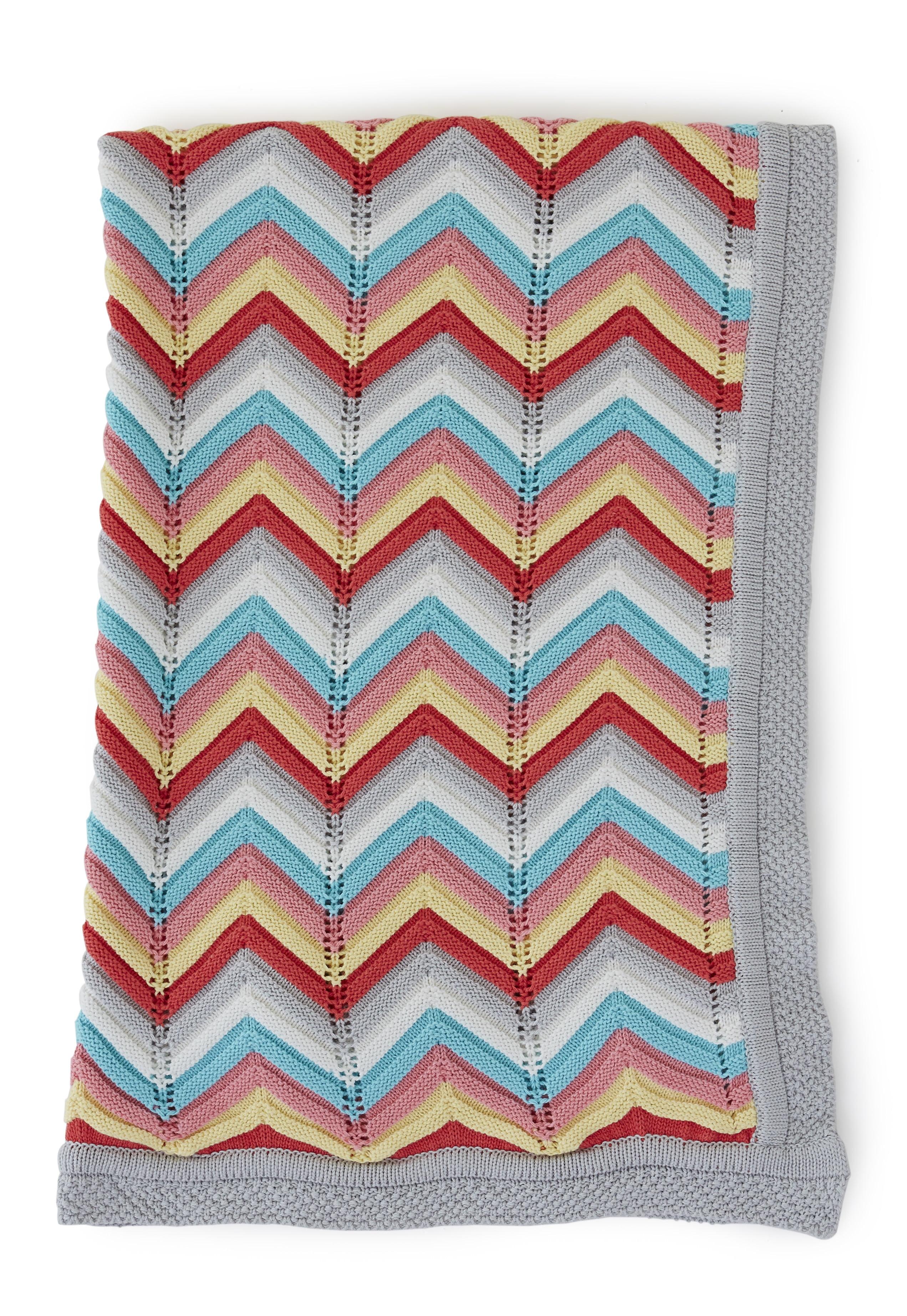 "The Little Acorn ""Rainbow"" Knit Blanket by The Little Acorn"