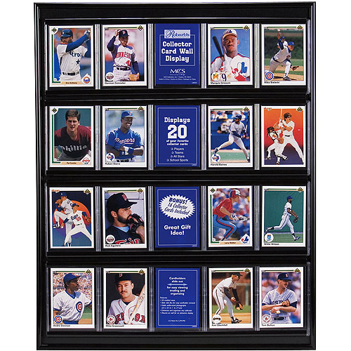Black Trading Card Display Case