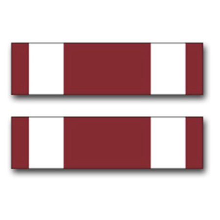 3.8 Inch Army Meritorious Service Medal Ribbon Vinyl Transfer (Meritorious Service Mini Medal)