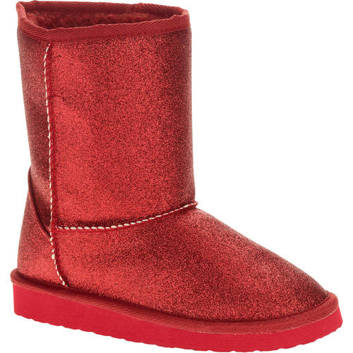 Faded Glory Girls' Sparkle Lug Sole Boot by