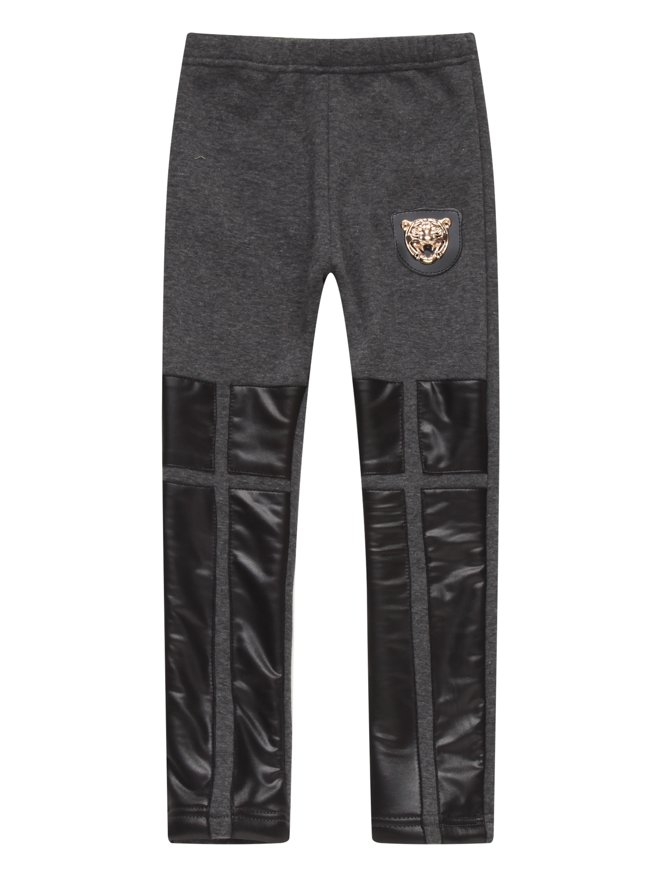 Richie House Girls' Winter Pants with Artifical Leather RH1438