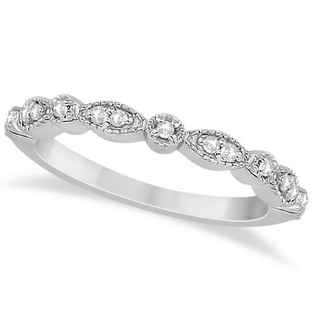 Petite Marquise and Dot Diamond Wedding Band in Palladium (0.13ct) Diamond Palladium Wedding Band