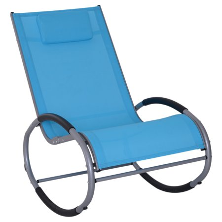 Outsunny Zero Gravity Rocking Chaise Lounge Sling Reclining Chair