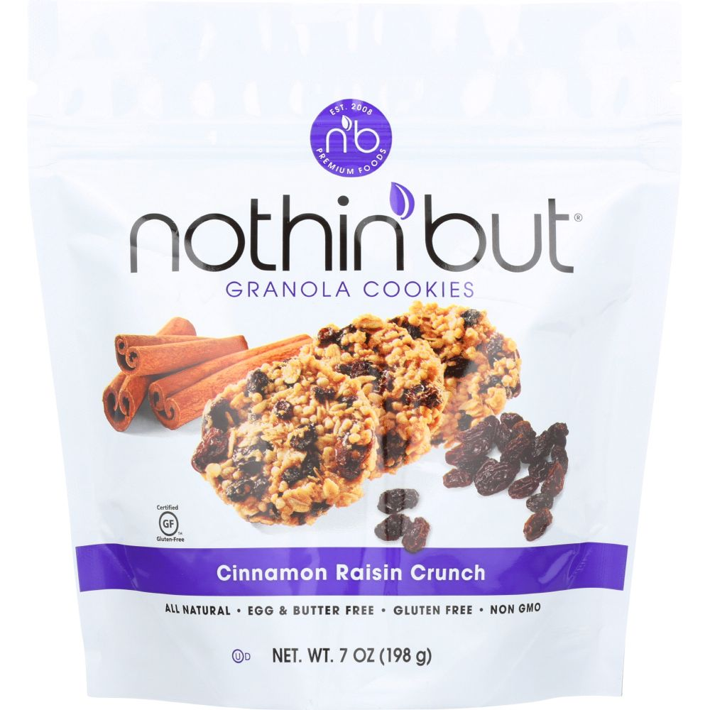 Nothin But Cinnamon Raisin Crunch Granola Cookies, 7 Oz (Pack Of 6)