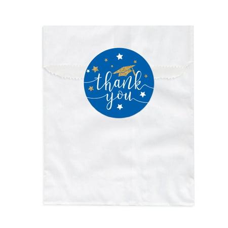 Royal Blue and Gold Glittering Graduation, Favor Bag DIY Party Favors Kit, Graduation Thank You!, 24-Pack (Diy Graduation Party Favors)