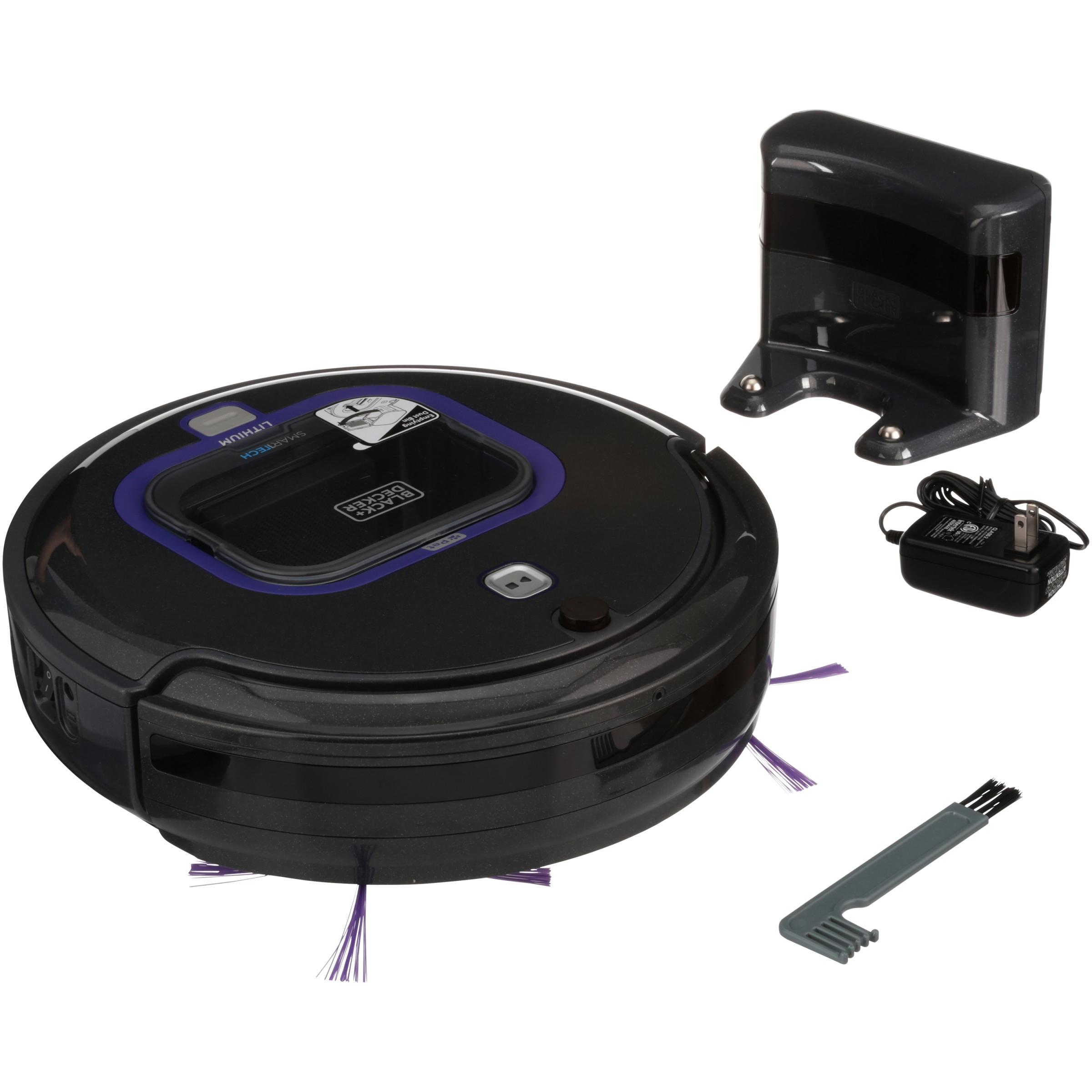 BLACK+DECKER PET Lithium Robotic Vacuum with SMARTECH, HRV420BP07