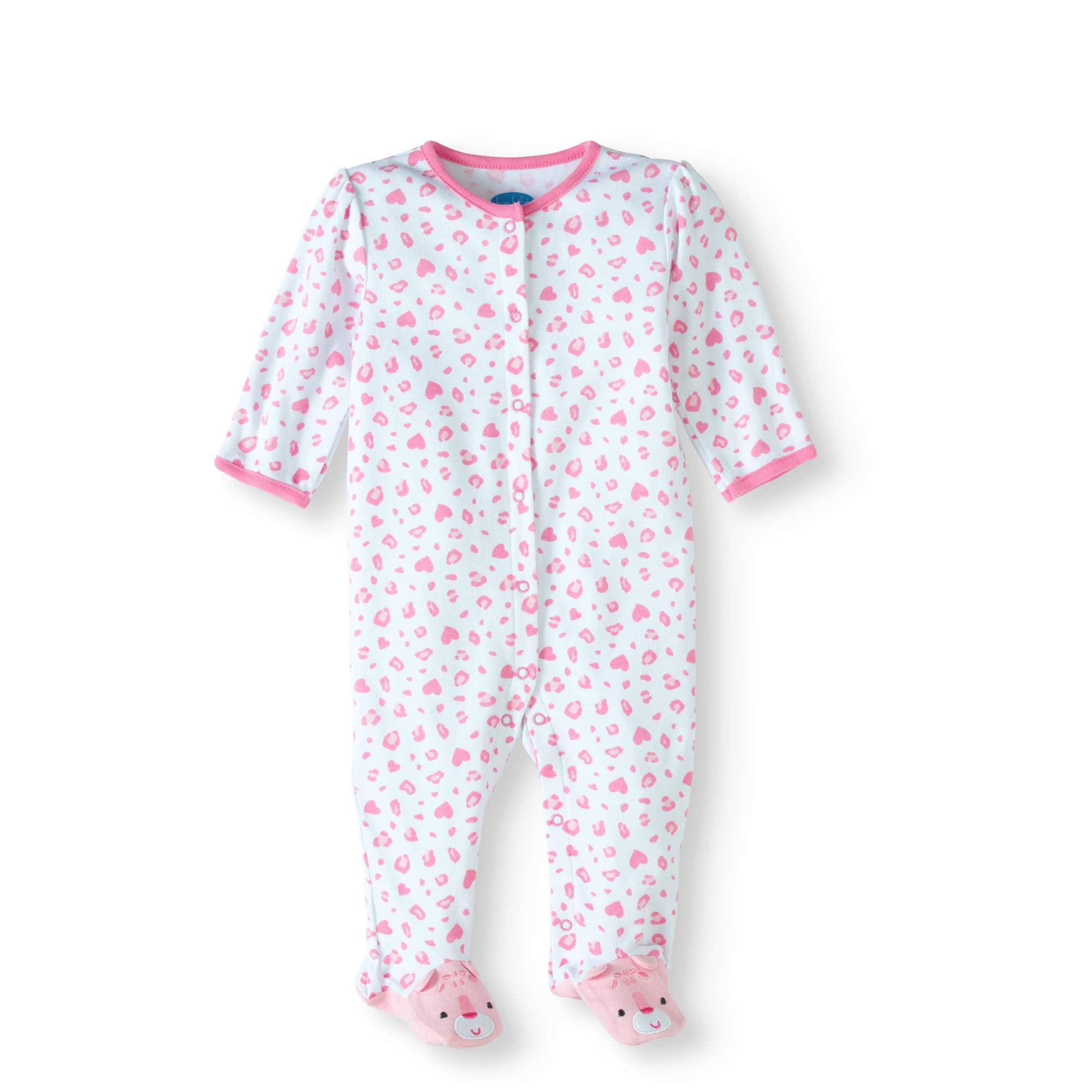 Bon Bebe Newborn Baby Girl Footed Sleep N Play With