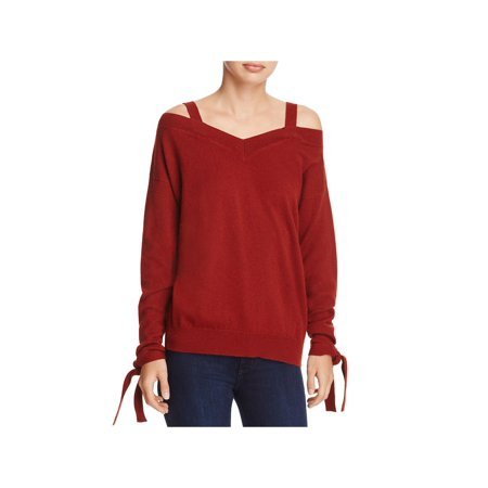 Theory Womens Cashmere Off-The-Shoulder Pullover Sweater