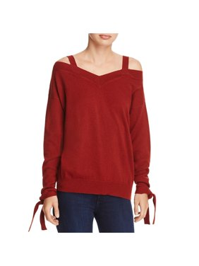8340c3dde2 Product Image Theory Womens Cashmere Off-The-Shoulder Pullover Sweater