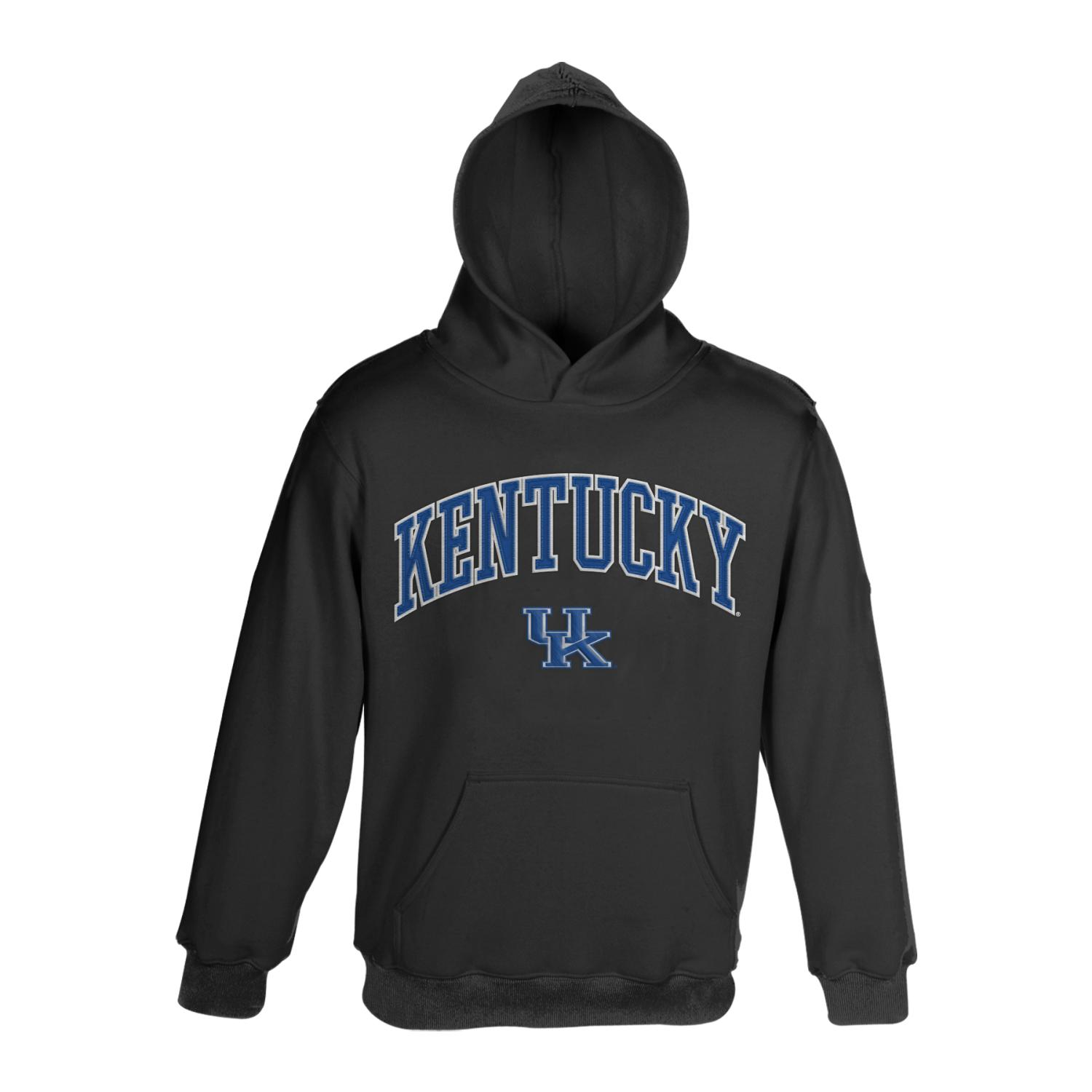 Kentucky Wildcats NCAA Embroidered Pullover Hooded Sweatshirt - Black