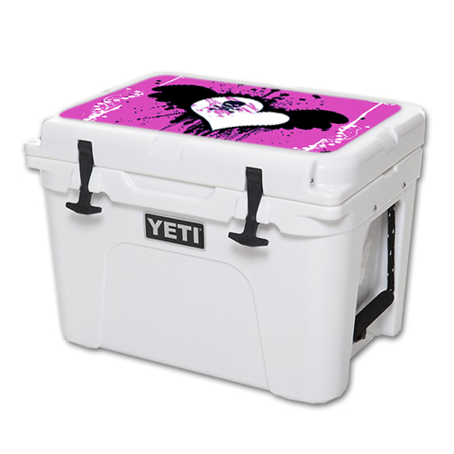 MightySkins Protective Vinyl Skin Decal for YETI Tundra 35 qt Cooler Lid wrap cover sticker skins Poison Heart