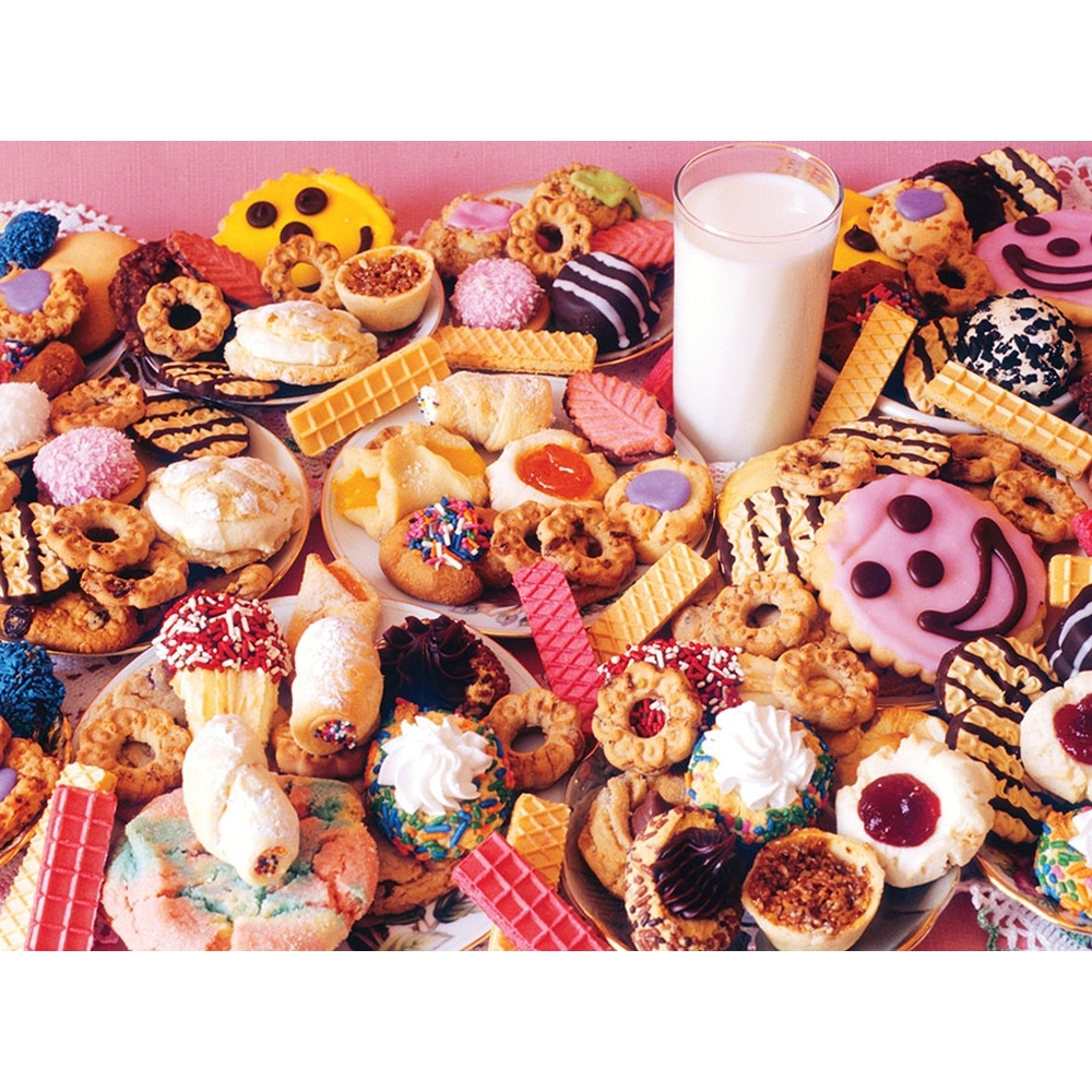 Milk and Lots of Cookies 1000 Piece Puzzle