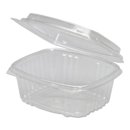 Genpak 12 oz Plastic Hinged Deli Containers, Clear, 100 count ()