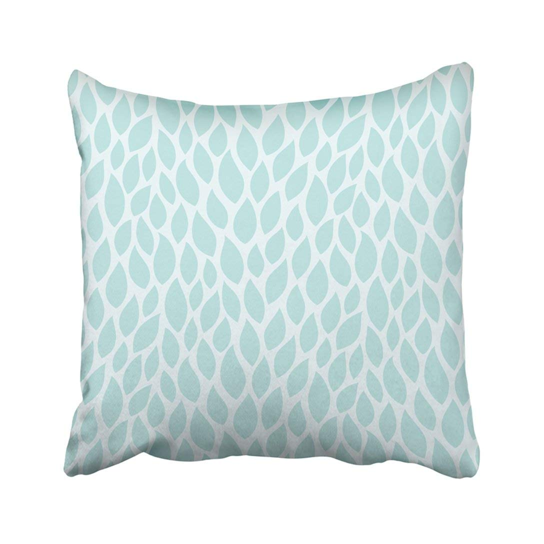 BPBOP Blue Leaf Turquoise Pattern with Leaves Geometric Nature Fall Plant Modern Foliage Pillowcase 16x16 inch