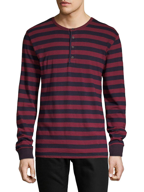Striped Long-Sleeve Henley