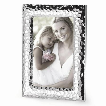 Hammered Metal Frame (Silver-plated Hammered Metal Photo Frame)