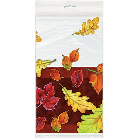 Halloween 'Crisp Leaves' Plastic Table Cover (1ct)](Table Setting For Halloween)