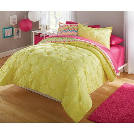 Pink Chevron Bed Set