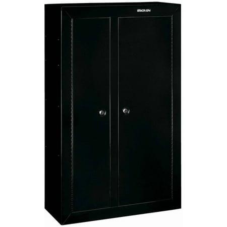 Stack-On 10-Gun Double-Door Security Cabinet, Black