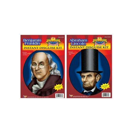 Abraham Lincoln and Benjamin Franklin Accessory Kits - Benjamin Franklin Costume