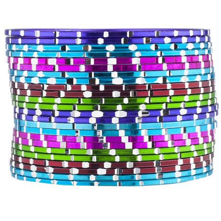 Lux Accessories Multi Color Boho Gypsy Indian Wedding Multi Bangle Set 24PC](Gypsy Accessories)