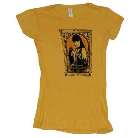 The Watchmen Girls Juniors T-Shirt - Silk Spectre Boxed Image - Silk Spectre Watchmen
