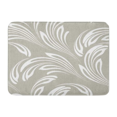 POGLIP Gray Lacy Floral Endless for Branch Carving Creative Elegance Doormat Floor Rug Bath Mat 30x18 inch - image 1 de 1