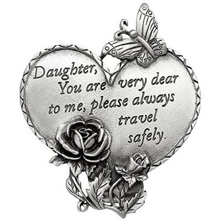- Travel Safely Pewter Heart Visor Clips Daughter