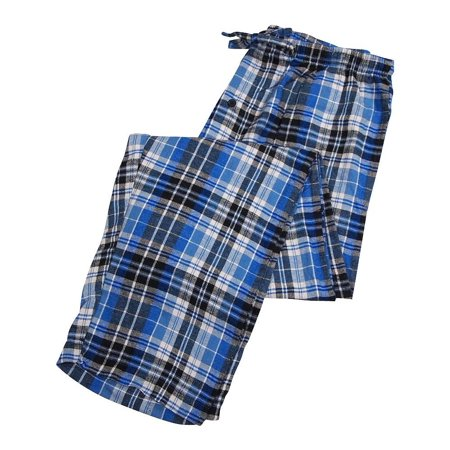 Private Label - Mens Flannel Lounge Pant blue black plaid / X-Large ()