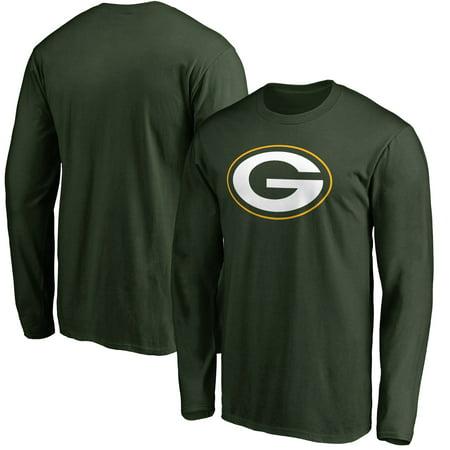 Green Bay Packer Logo (Green Bay Packers NFL Pro Line Primary Logo Long Sleeve T-Shirt -)