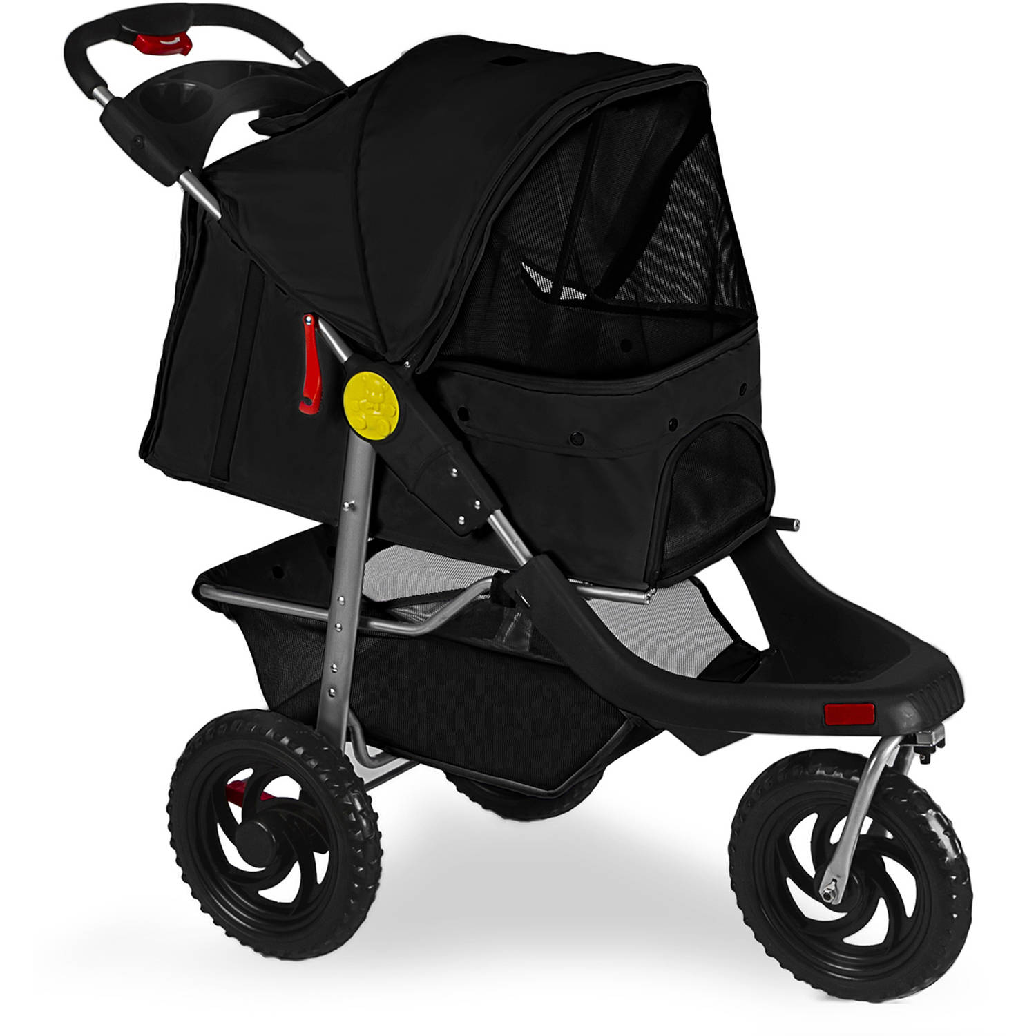 Oxgord Pet Stroller Cat Dog 3 Wheel Walk Jogger Travel Folding Carrier Deluxe