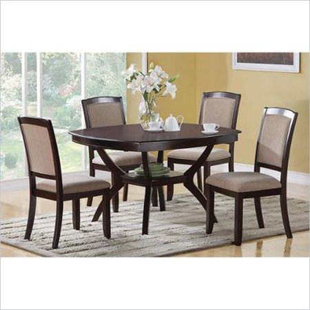coaster memphis 5 piece dining table and chair set
