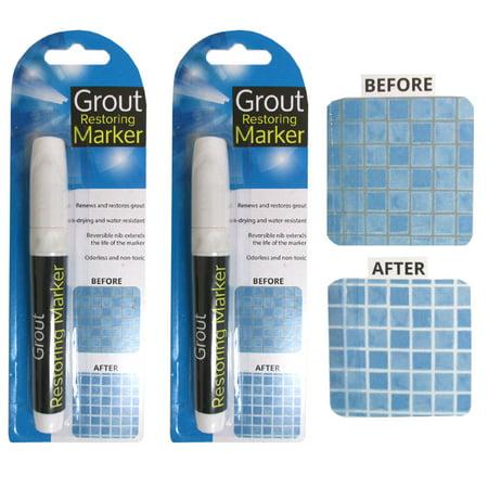 2 Grout Restoring Marker White Repair Tile Floor Wall Pen Home Decor Non