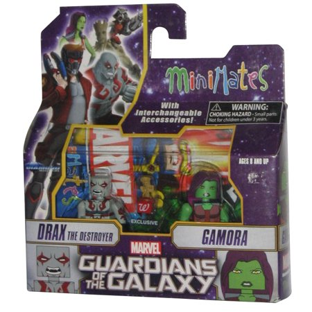 Marvel Guardians of The Galaxy MiniMates Figure Set - Drax Destroyer Gamora & Baby Groot Exclusive - Drax The Destroyer Halloween