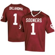 Men's Russell #1 Crimson Oklahoma Sooners Fashion Football Jersey