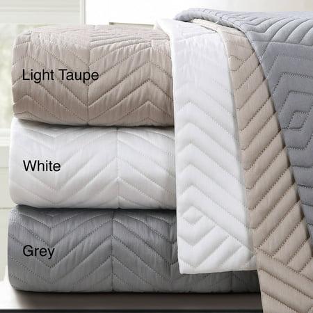 Echelon Home  Monterey Quilted Cotton Euro Sham (Set of 2) ()
