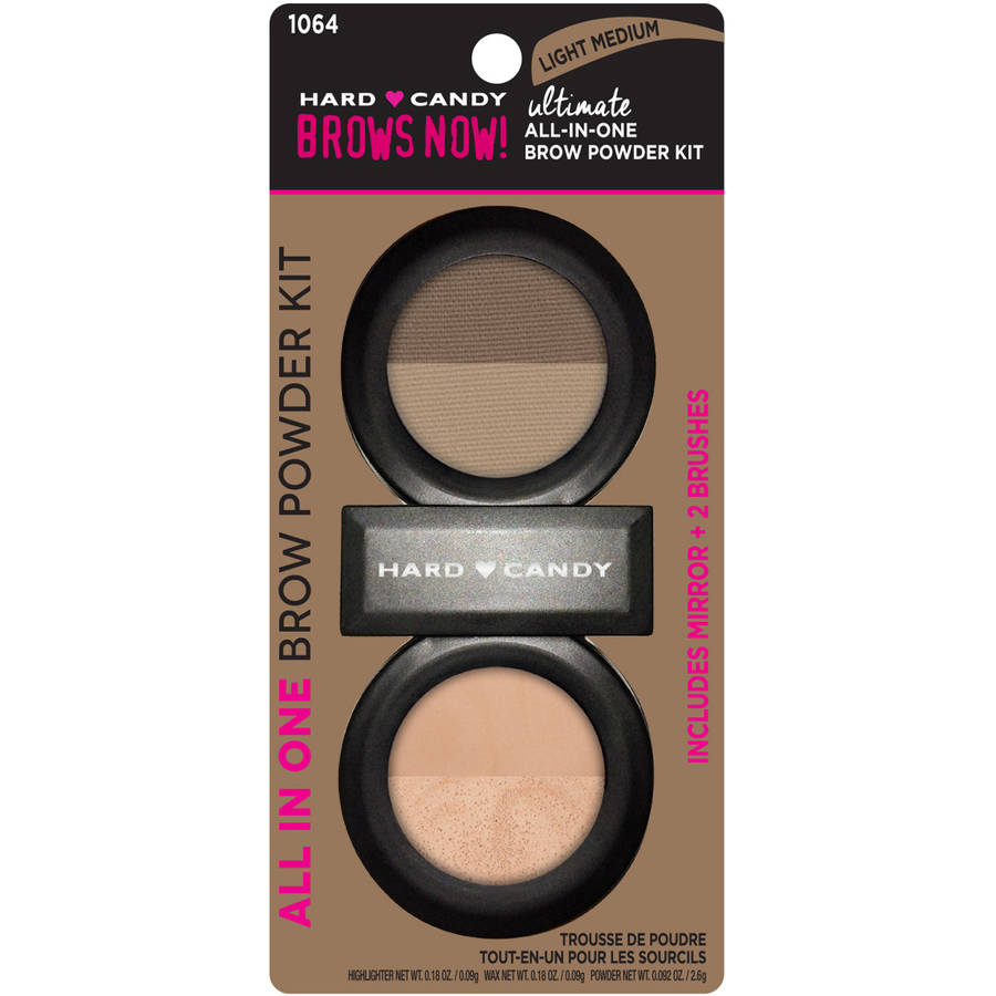 Hard Candy Brows Now! Ultimate All in One Brow Powder Kit, 1064 Light Medium, .45 oz
